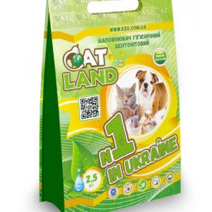 """ЧАО """"Завод Утяжелителей"""" - новый дизайн пакетов продукции гигиенических бентонитовых наполнителей для домашних животных ТМ «Cat Land» 2,5 кг. и 5 кг."""