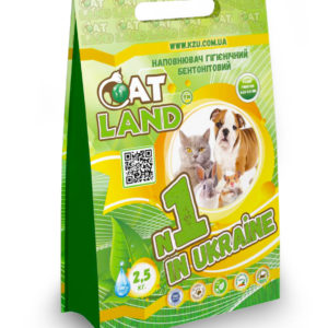 "PrJSC ""Weighting Agents Plant"" – new package design for hygienic bentonite cat litter for domestic animals ТМ «Cat Land» 2,5kg and 5kg."