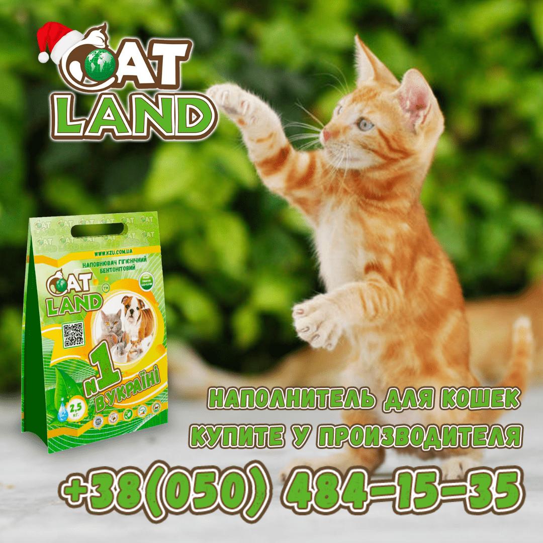 Свойства наполнителя для кошачьих туалетов Cat Land.