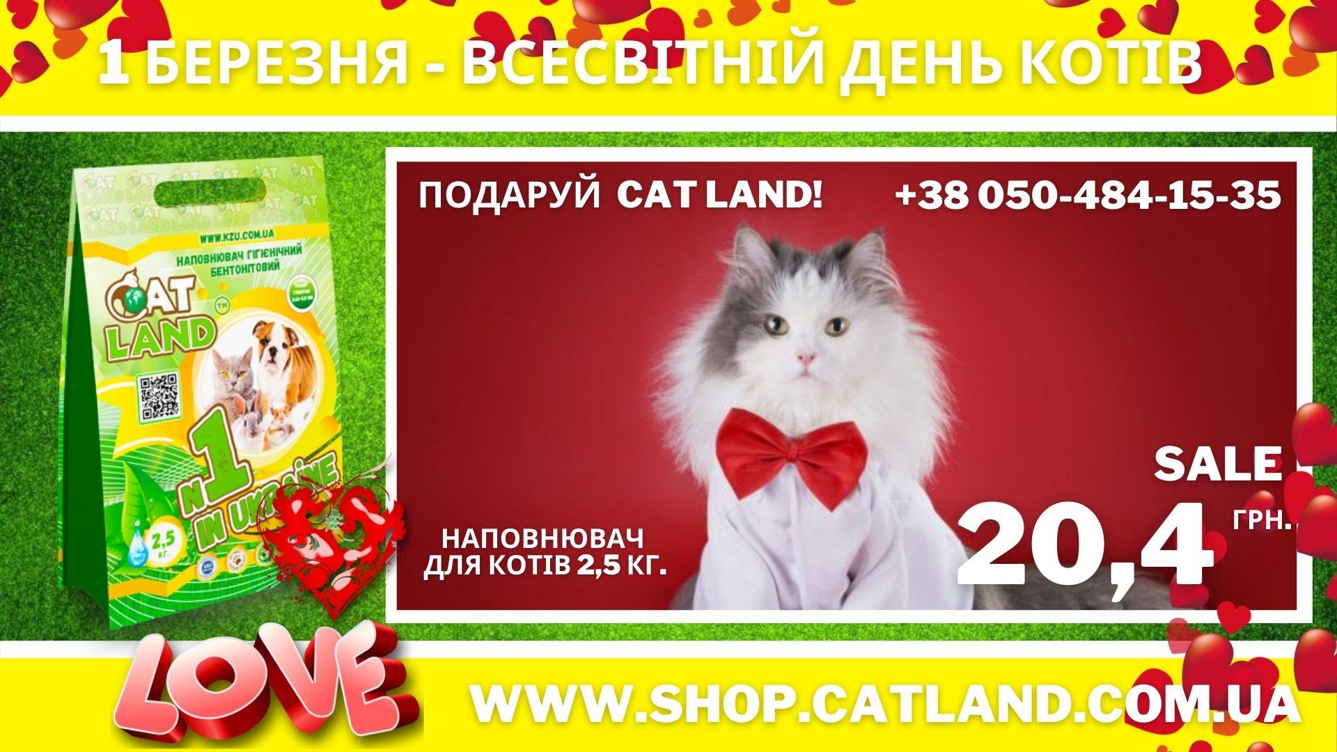 Кращий варіант для котячого туалету Cat Land!
