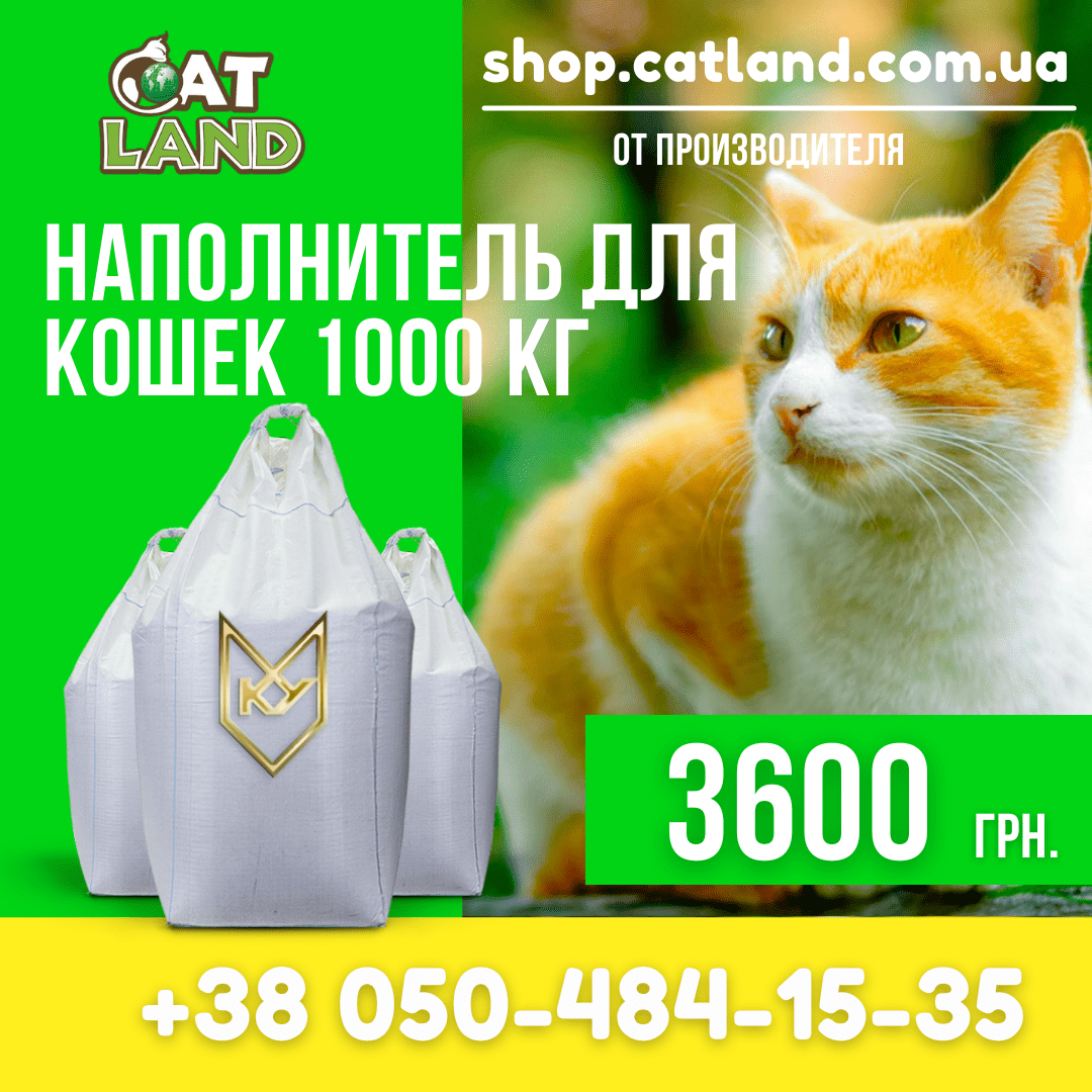 Cat Land - натуральна речовина, глина, перевагою якої є висока вбираність і поглинання запахів.